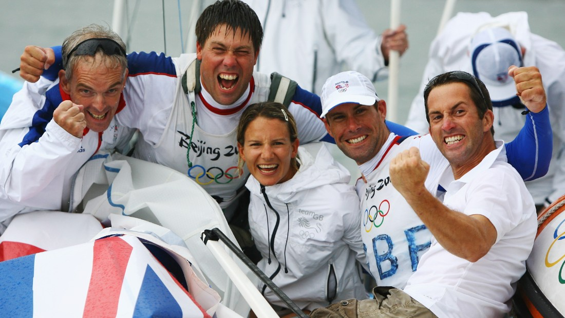 The British duo won gold in the Star class at Beijing 2008 while close friend Ben Ainslie (far right) -- now Percy's America's Cup rival -- triumphed in the Finns.