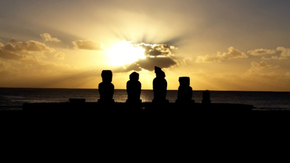 "Easter Island, also called Rapa Nui, is known for its  giant stone statues. Hundreds of statues stand tall, revealing three distinct cultural periods. The island is in the Pacific more than 2,000 miles west of Chile. ""One of the most isolated islands in the world? That may be, but don't let that dissuade you,"" wrote iReporter Terry Hall."