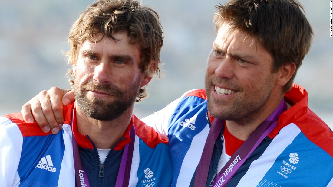 "Olympic sailing champions Iain Percy and Andrew ""Bart"" Simpson (right) were childhood friends and enjoyed their greatest successes together."