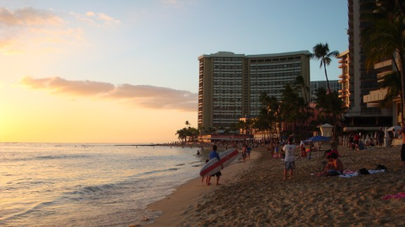 "Most of Hawaii's population lives on Oahu. In Honolulu, on the southeastern shore, the neighborhood of Waikiki was once home to Hawaiian royalty. ""Here you can learn to surf during the day and after sunset sway to the island rhythms. Visitors are always greeted with love and tenderness,"" said iReporter Sobhana Venkatesan."