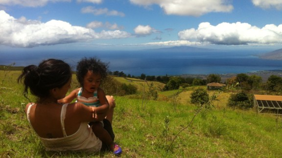 "iReporter Eric Peoples was in Hawaii in 2013 with his wife and daughter celebrating his wife's birthday and visiting family in the state. ""Maui is beautiful and has the contrast of dry on one side and then tropical on the other, which is where I took the photo."""