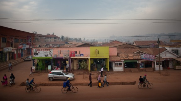 """The Ministry of Education in Uganda has said Bridge International Academies, who has 63 schools across the country, have put the """"life and safety"""" of its students on the line. Many of its pupils come from slums like this one in Uganda's capital, Kampala."""