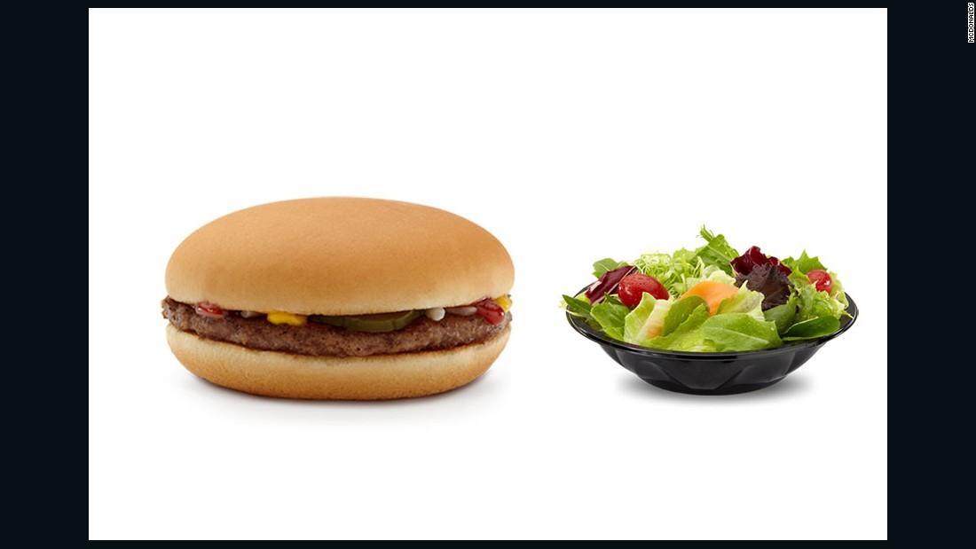 """If you must have something more ""traditional"" at McD's, opt for a regular burger patty and swap out the fries for a side salad with low fat vinaigrette dressing. Otherwise, I'd choose the Premium Southwest Salad with Grilled Chicken."" <br />-- <a href=""http://www.katherinebrooking.com/"" target=""_blank"">Katherine Brooking</a>, M.S., R.D."