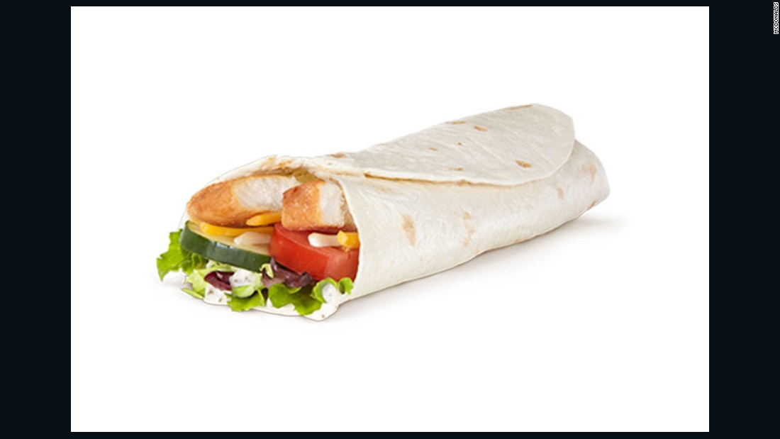 """A salad just wouldn't be enough calories.So if I'm famished, I think I would probably choose the Premium McWrap Southwest (grilled).<br /><br />Five hundred calories is a reasonable amount for a meal and it's pretty balanced, with about 40% of the calories coming from carbs, 24% from protein and 33% from fat. <br /><br />It's also got a serving of vegetables (including a salad blend that actually includes <a href=""http://www.huffingtonpost.com/2015/03/04/yuma-lettuce_n_6796398.html"" target=""_blank"">some nice greens</a>, like mizuna and arugula) and 5 grams of fiber. For fast food, that's actually pretty good! <br /><br />The trick would be resisting the fries!!"" <br /><br />-- Monica Reinagel, MS, LDN, CNS, Author of ""<a href=""http://www.amazon.com/Nutrition-Divas-Secrets-Healthy-Diet/dp/0312676417"" target=""_blank"">Nutrition Diva's Secrets for a Healthy Diet</a>"""