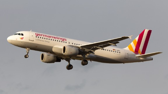This undated file photo shows the Germanwings Airbus A320 that crashed. Germanwings is a low-cost airline owned by the Lufthansa Group.