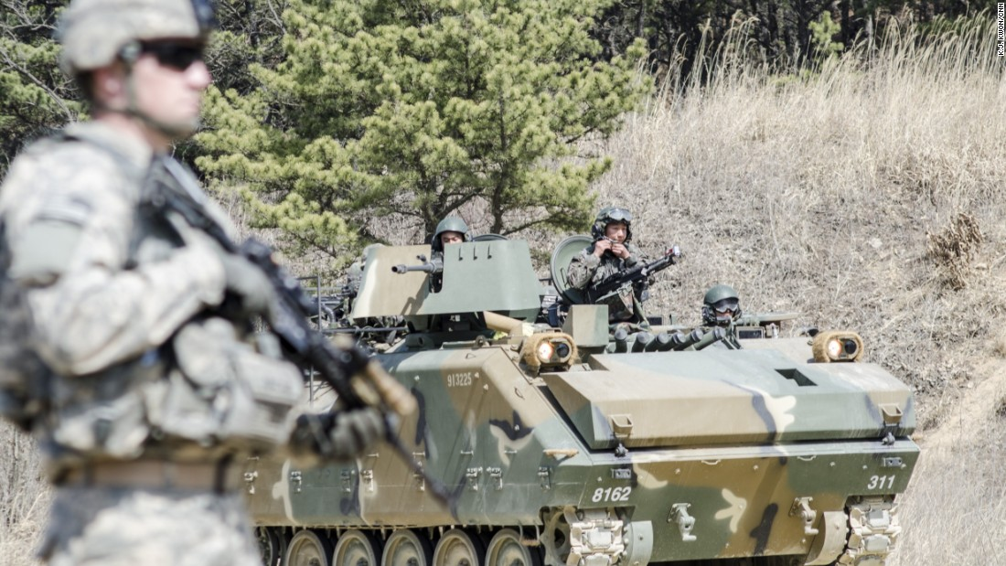 The annual exercises practice military drills designed to deter conflict on the Korean peninsula.