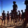 Maasai warriors jumping dance