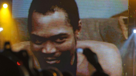 """Afrobeat star Fela Kuti (seen here being honored at the first MTV Music Awards for Africa, 2008) and his band Afrika '70 release """"Zombie,"""" a scathing attack on the Nigerian military -- the firebrand musician is a constant critic of the government. The authorities eventually retaliate, sending hundreds of troops to lay siege to Kuti's commune. His mother is thrown out of a window during the attack and subsequently dies, whilst the property is set on fire, destroying all of Kuti's instruments and master tapes."""