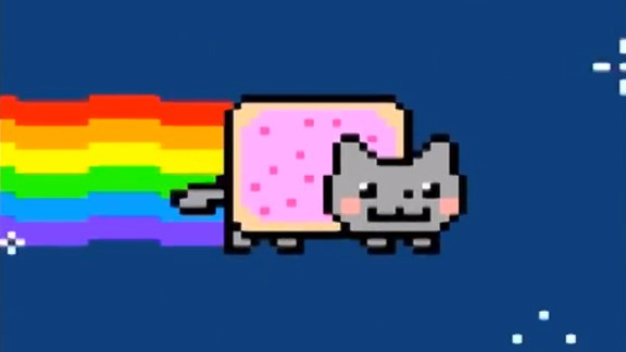 Nyan Cat, a YouTube video updated in 2011, has been viewed nearly 200 million times.