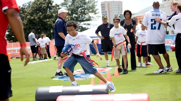 Across America, cities, towns and counties are supporting healthy afters-school programs and youth sports leagues. Here kids attend a Let