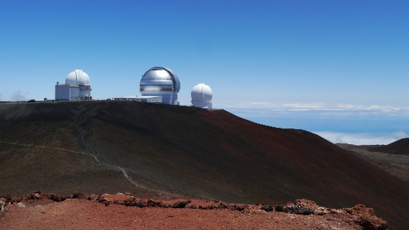 Hawaii, also known as the Big Island, is the youngest and largest island in the Hawaiian chain. iReporter Kristi DeCourcy took this photo from the summit of Mauna Kea at 13,796 feet, looking down on the Mauna Kea observatories.