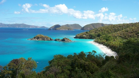 "A national park covers 60% of the smallest of the three main U.S. Virgin Islands, St. John.  iReporter Blair Stewart was taken with the island's pristine natural beauty. ""We bribed our way onto the ferry in St. Thomas and spent the day touring, swimming, snorkeling, eating and seriously thinking of never leaving,"" he said."