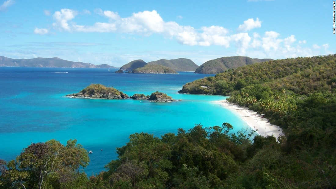 "A national park covers 60% of the smallest of the three main U.S. Virgin Islands, St. John. <a href=""http://ireport.cnn.com/docs/DOC-1220355""> iReporter Blair Stewart </a>was taken with the island's pristine natural beauty. ""We bribed our way onto the ferry in St. Thomas and spent the day touring, swimming, snorkeling, eating and seriously thinking of never leaving,"" he said."