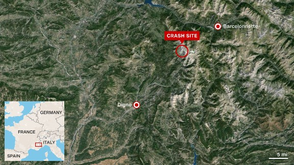 The mountainous terrain where the Germanwings jet went down is difficult to access.