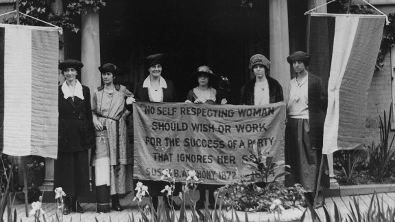 The feminist activists of the 1960s, '70s and early '80s weren't the first to push for an Equal Rights Amendment. Suffragist leader Alice Paul, second from right, fought hard to pass the 19th Amendment -- which earned women the right to vote in 1920. She drafted the first ERA and introduced it to Congress in 1923.