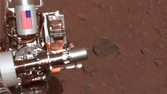 The Mars Spirit rover was Opportunity's twin, and it's mission ended in 2011. Both rovers featured a piece of metal with the American flag on the side. They are made of aluminum recovered from the site of the World Trade Center towers in New York City.