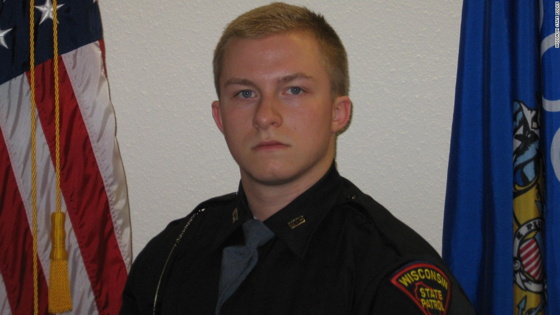 "Wisconsin State Trooper Trevor Casper, 21, was shot and killed March 24 <a href=""http://www.cnn.com/2015/03/25/us/san-jose-police-officer-shot/"" target=""_blank"">while chasing a bank robbery suspect.</a> It was Casper's first solo assignment as a state trooper. Lt. Col. Brian Rahn of the Wisconsin State Patrol said Casper's handling of the fatal encounter was ""absolute textbook."""
