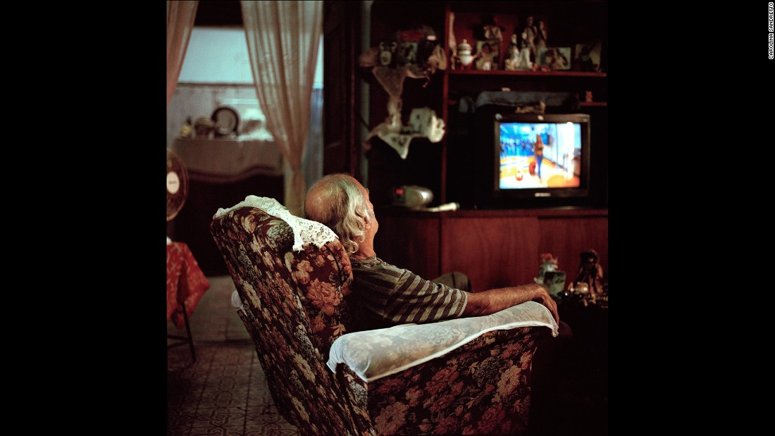 A man sleeps in his house in Havana.