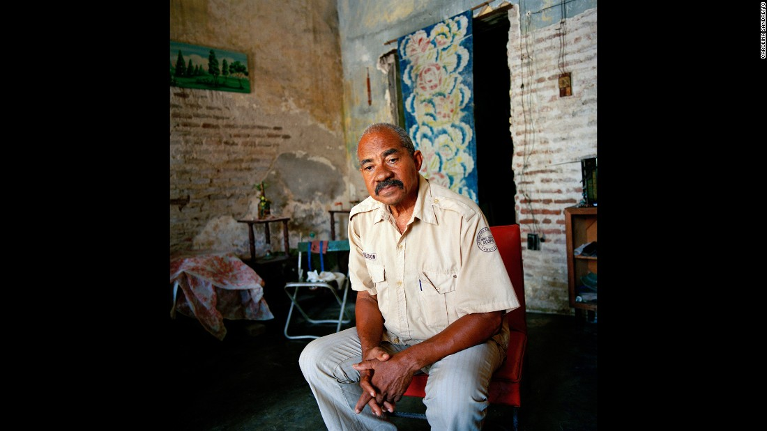 Juan Sancez was a teacher for 40 years before retiring in Camaguey.
