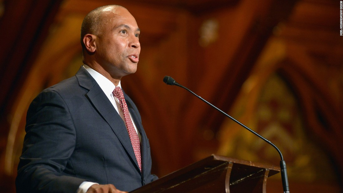Former Massachusetts Gov. Deval Patrick will address graduates at Harvard University on May 28.