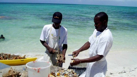 "Erin Carlson visited Turks and Caicos in 2007 for her wedding. ""One of our 'must dos' was a visit to 'da Conch Shack.' Here you can watch as they clean the conch right there on the beach, which you can then order in a dish at this little seaside bistro shack,"" wrote Carlson."