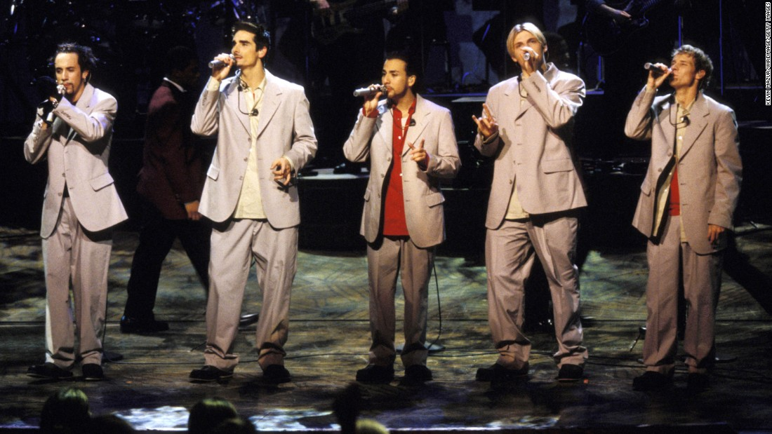 "In 1996, the Backstreet Boys released their debut album, ""Backstreet's Back."" ""Millennium,"" ""Black & Blue,"" ""Never Gone,"" ""Unbreakable"" and ""This Is Us"" followed. After parting with the group years ago, Kevin Richardson (second from left) rejoined A.J. McLean, Howie Dorough, Nick Carter and Brian Littrell. In March 2017, <a href=""http://www.cnn.com/2017/03/02/entertainment/backstreet-boys-las-vegas-residency/index.html"">they kicked off a limited Vegas residency </a>and they <a href=""https://www.cnn.com/2018/05/17/entertainment/backstreet-boys/index.html"" target=""_blank"">released a new single in May. </a>"