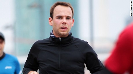 Photo of Germanwings co-pilot Andreas Lubitz in a 2013 race.