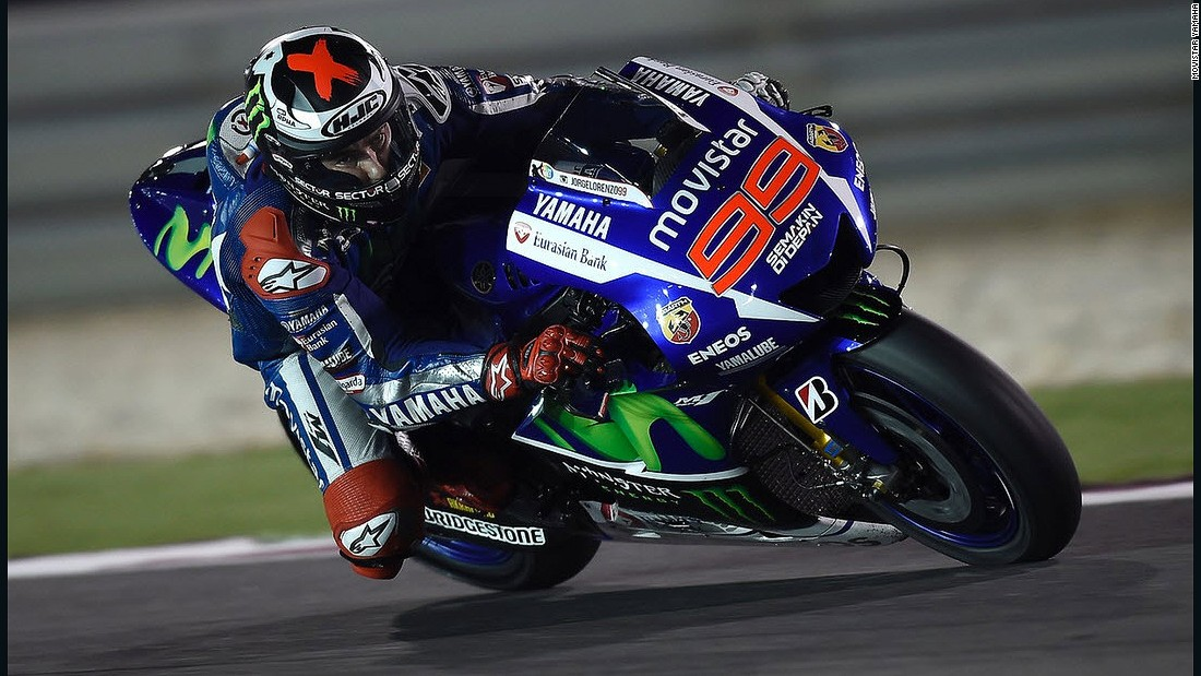 A former world champion, 27-year-old Spaniard Jorge Lorenzo is expected to be Marquez's closest rival this year.