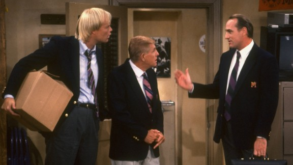 "Bill Fagerbakke, left, Jerry Van Dyke and Craig T. Nelson starred in the comedy ""Coach,"" which ended in 1997. Fans were excited by news that NBC was working on a ""Coach"" revival starring Nelson, but it was later reported the reboot had been scrapped."