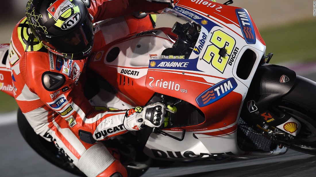 Andrea Iannone is a new racer for Ducati and reportedly likes racing at night -- Qatar's MotoGP will be held in the evening due to scorching daytime temperatures.