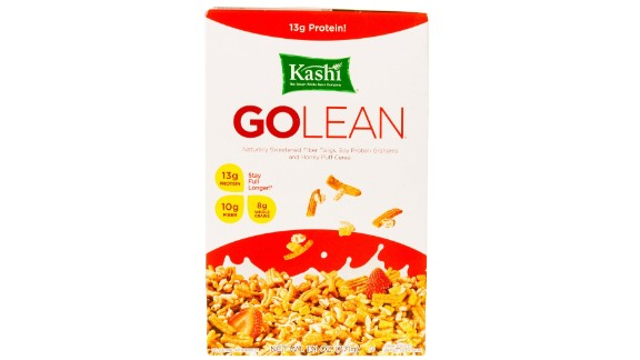 Kashi GoLean cereal has 10 grams of fiber per serving.