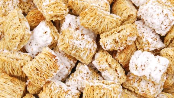 Kellogg's Frosted Mini-Wheats have 8 grams of fiber per serving.