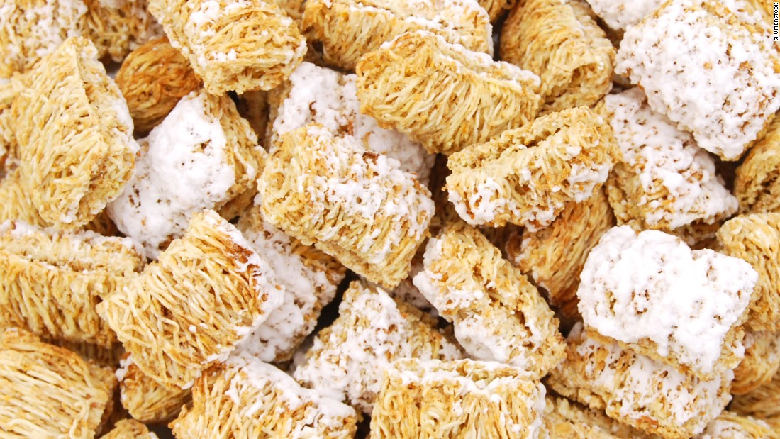Kellogg's Frosted Mini-Wheats have 8 grams of fiber per serving.