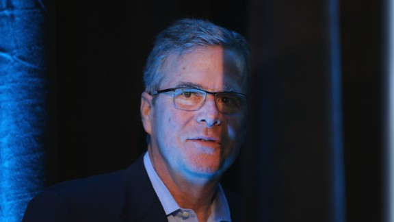 Former Florida Governor Jeb Bush waits to be introduced at the Iowa Ag Summit on March 7, 2015 in Des Moines, Iowa.