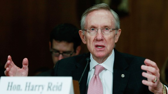 Reid testifies during a Senate Judiciary Committee hearing on Capitol Hill on October 14, 2009 in Washington, D.C.
