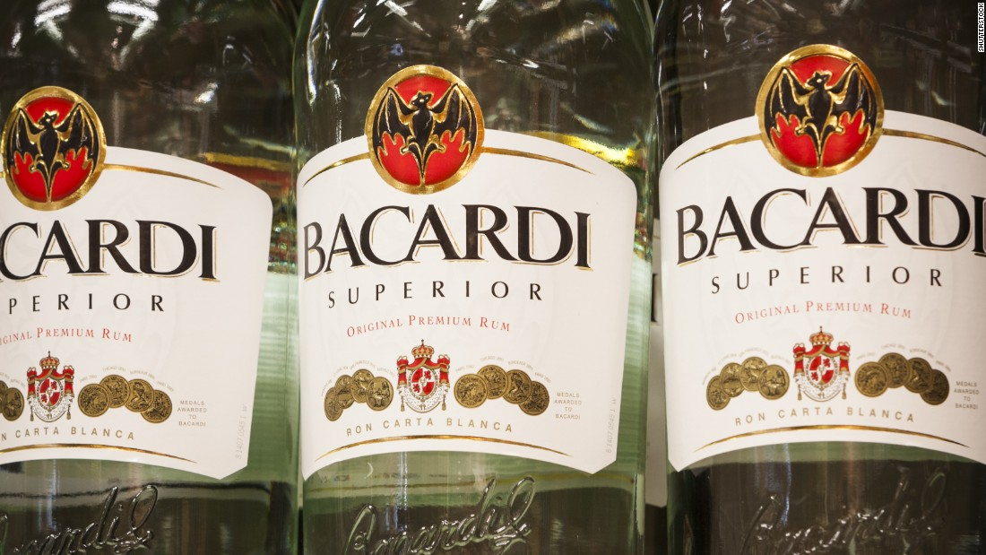 <strong>4. Bacardi rum. </strong>US retail sales in 2014: $204 million.