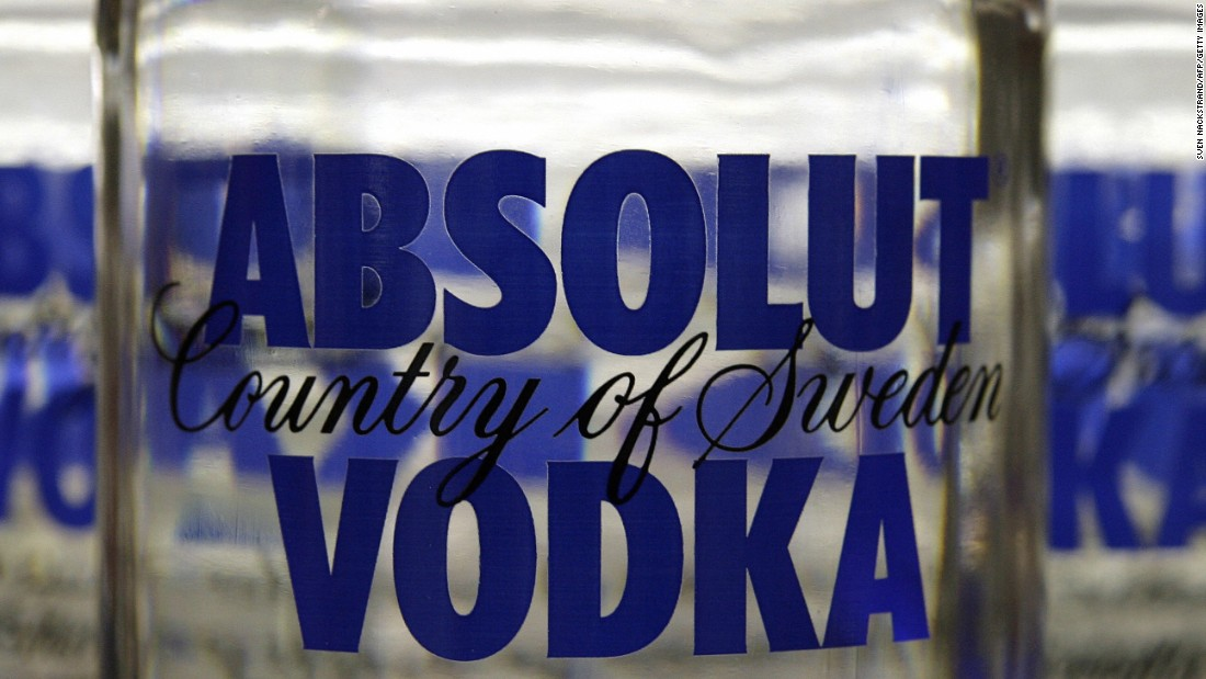 <strong>6. Absolut vodka. </strong>US retail sales in 2014: $130.7 million.
