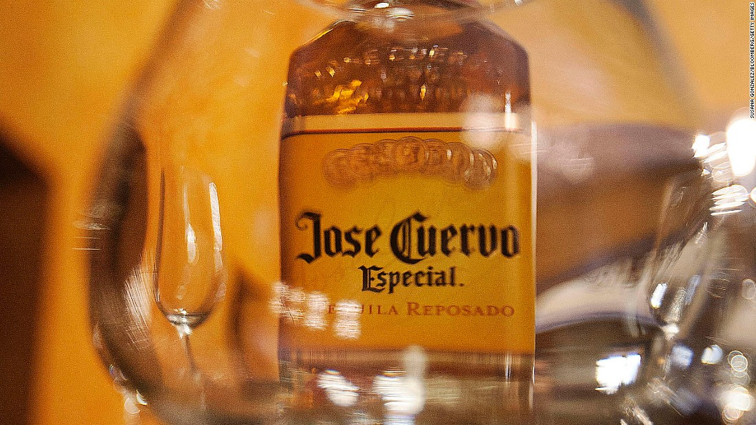 <strong>9. Jose Cuervo tequila.</strong> US retail sales in 2014: $109 million.