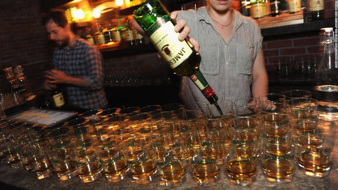 <strong>15. Jameson Irish Whiskey. </strong>US retail sales in 2014: $73 million.