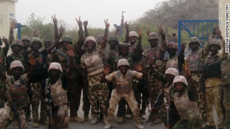 Nigeria's military said well-coordinated land and air operations had liberated Gwoza in Borno state.