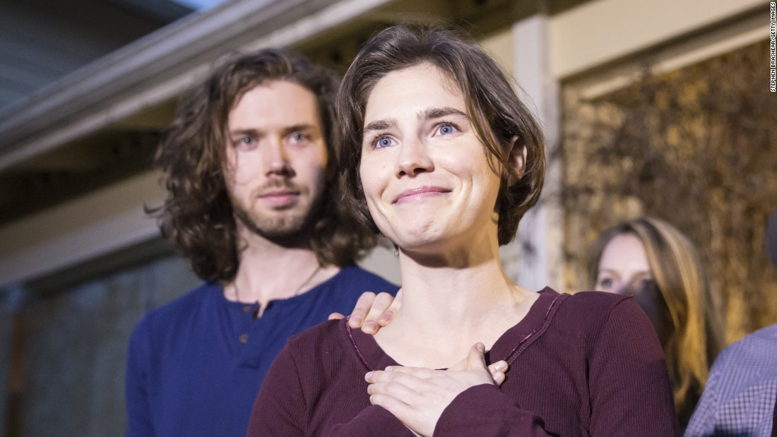 Amanda Knox at her parents' home in Seattle, Washington, on March 27, 2015. Knox and Raffaele Sollecito (not pictured) were acquitted by Italy's highest court in the murder of British student Meredith Kercher.