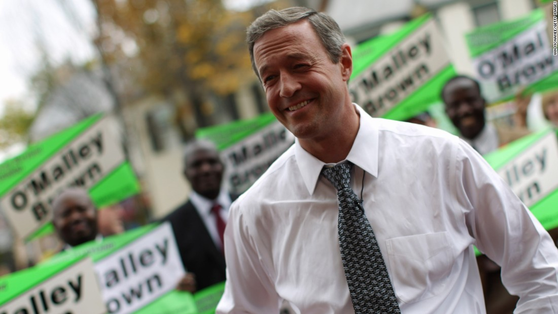 O'Malley campaigns for reelection on October 27, 2010, in Frederick, Maryland.