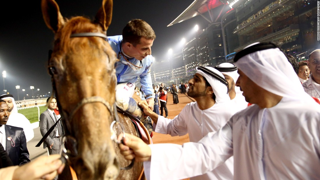 Buick was congratulated after the race by Dubai's Crown Prince, who owns Prince Bishop.