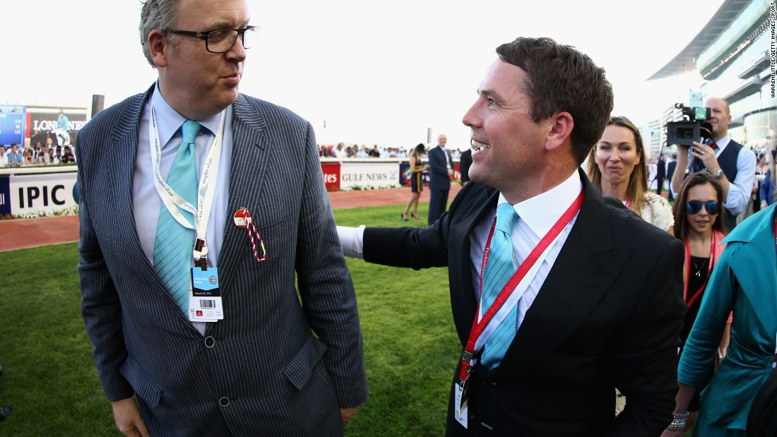 Brown Panther is owned by former England, Liverpool, Real Madrid and Manchester United striker Micheal Owen, one of the many celebrities at the race.