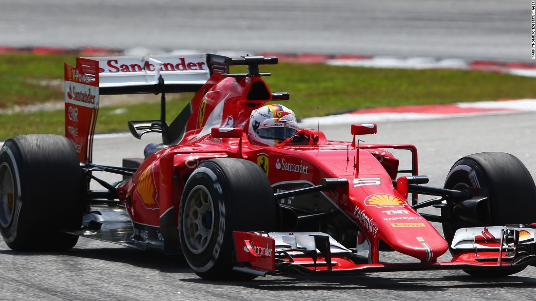 Vettel drove a superb race for Ferrari to secure his first victory for his new team.
