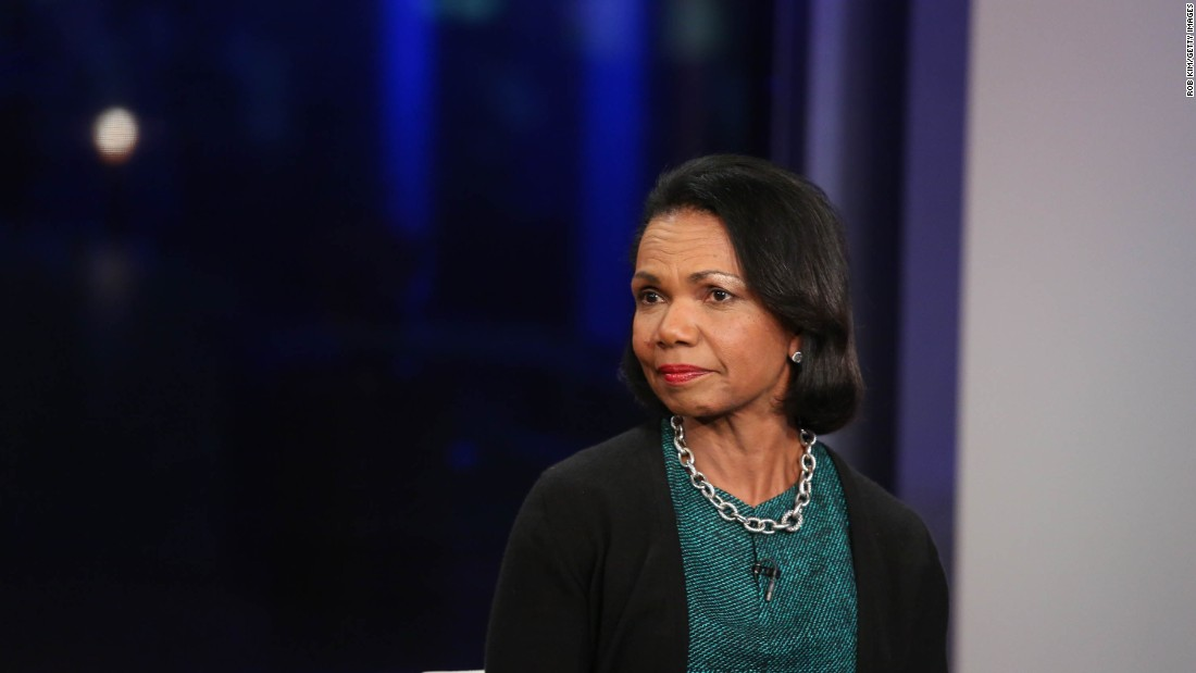 Former Secretary of State Condoleezza Rice spoke at the commencement at William & Mary in Williamsburg, Virginia, on May 16.