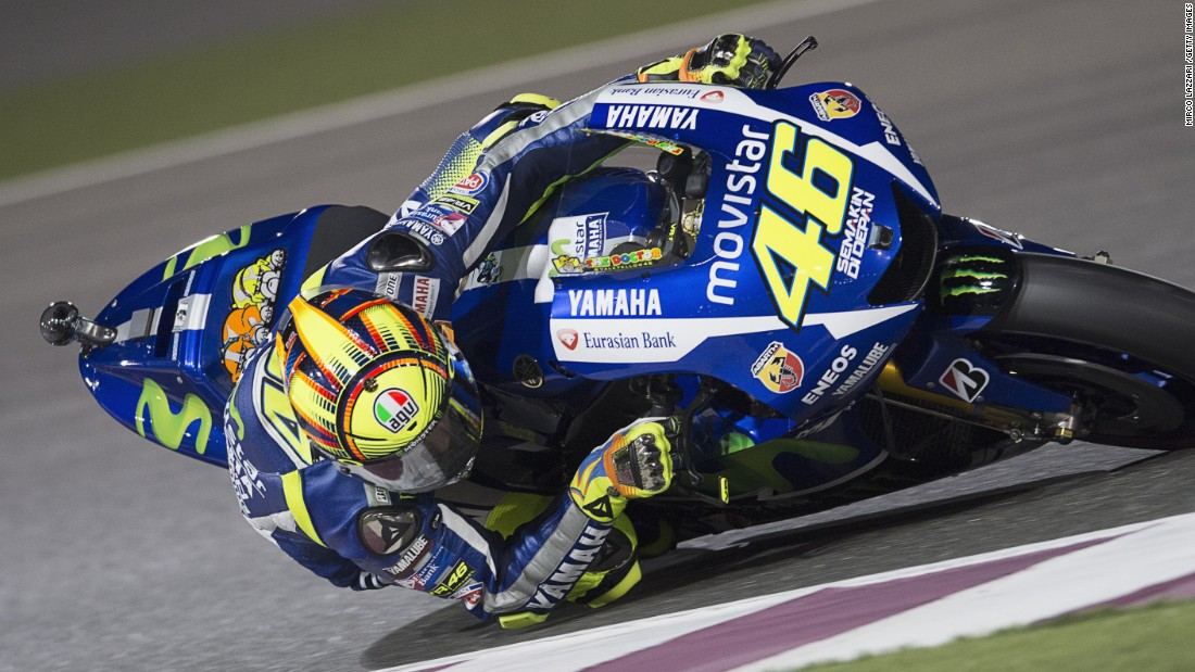 Rossi took an early lead in the championship by winning the opener under the lights in Qatar.
