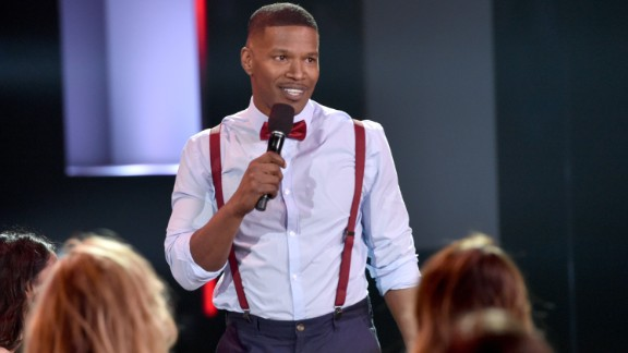 "Twitter wasn't laughing after Jamie Foxx made a joke about Olympic hero Bruce (now Caitlyn) Jenner during the iHeartRadio Music Awards in Los Angeles on March 29. ""We got some ground-breaking performances, here too, tonight,"" Foxx said. ""We got Bruce Jenner, who will be doing some musical performances. He's doing a his-and-her duet all by himself."""