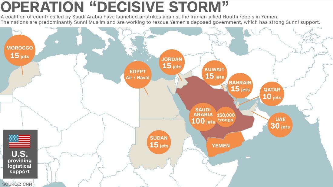 Yemen whos in saudi arabias anti houthi coalition cnn gumiabroncs Choice Image