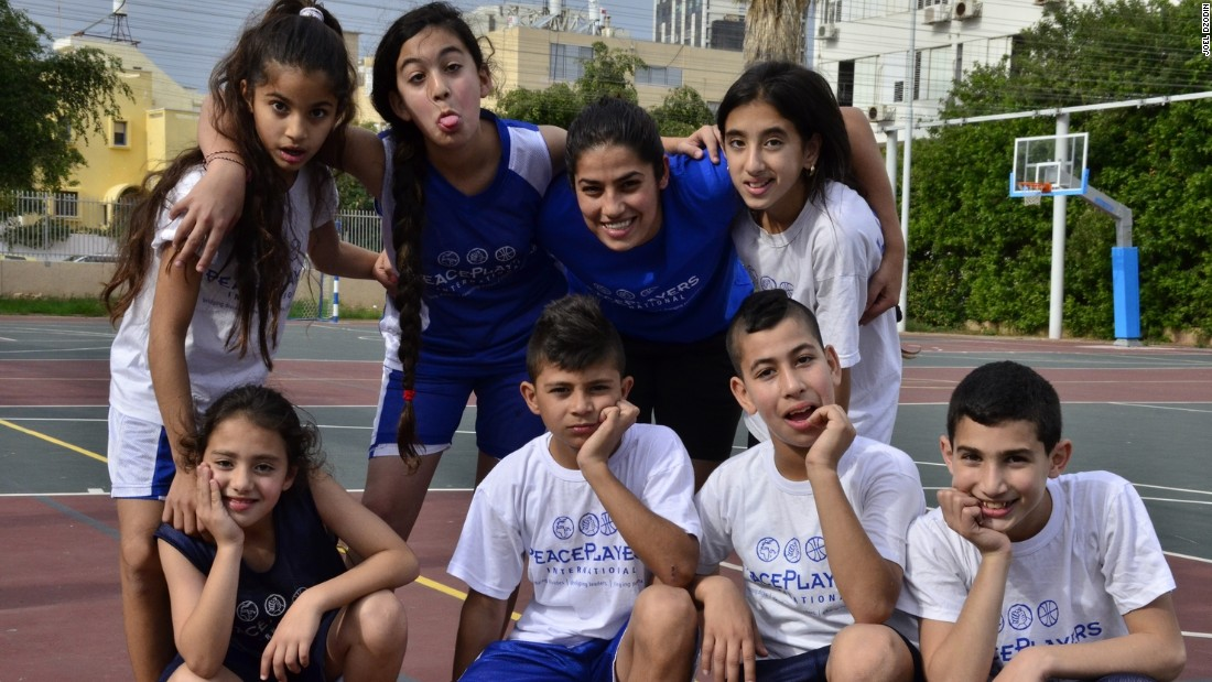 The program encourages relationships between Israeli and Palestinian children with basketball at its core. There are also education seminars as well as leadership courses offered.